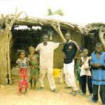 kids in a village in the jeeri