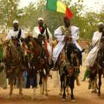 local villagers in full regalia