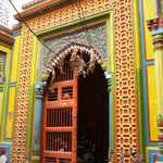 colorful temple door